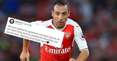 OFFICIAL: Former Arsenal and Villarreal midfielder Santi Cazorla joins Xavi's Al Sadd