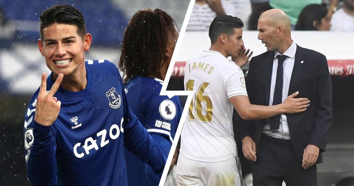 La explosión de James en la Premier expone a Zidane
