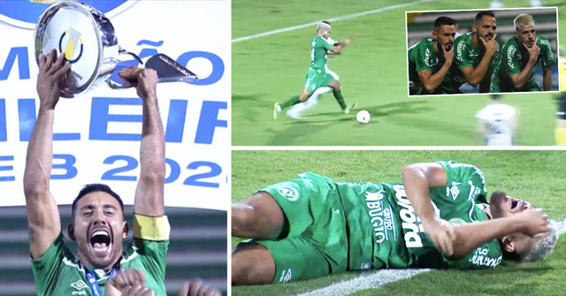 Wahnsinn in Brasilien: Chapecoense-Spieler setzt alles auf Rot, schockt Teamkollegen mit riskantem Elfmeter zum Aufstieg in der 98. Minute