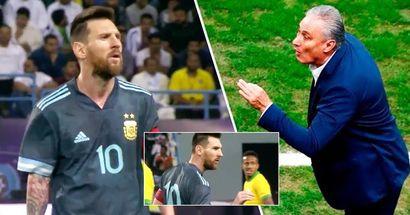 Wenn Leo wütend wird: Was ist zwischen Lionel Messi und Brasiliens Cheftrainer Tite passiert?
