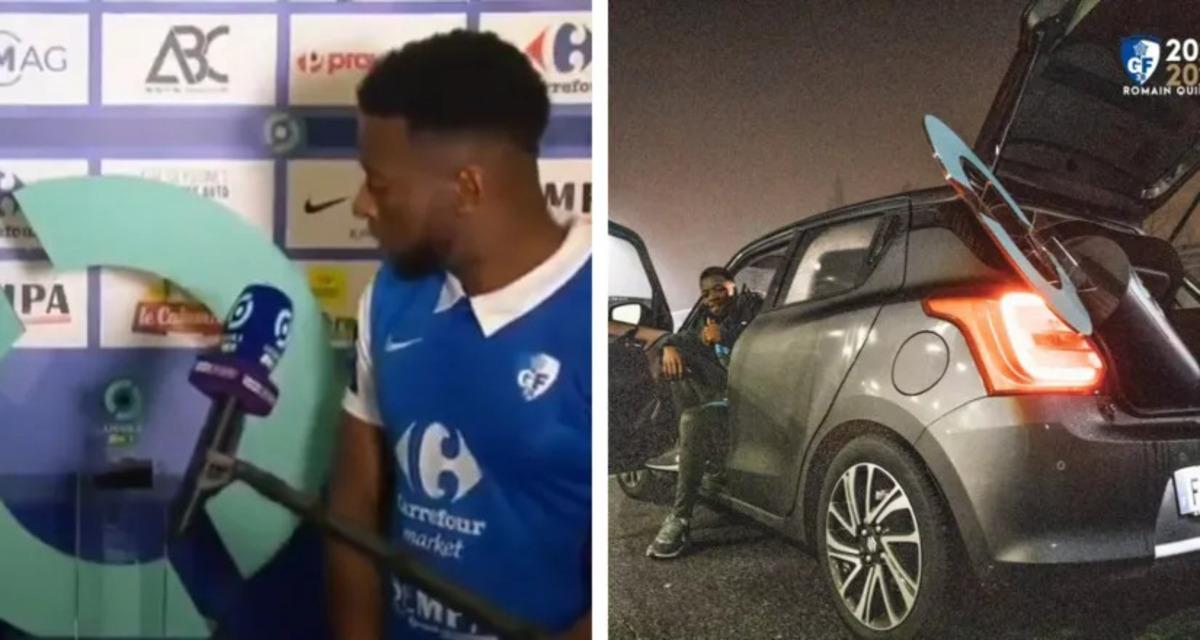 Un jugador de la Ligue 2 piensa que el premio del mejor del partido es un gran soporte, lo coloca en el maletero de su coche