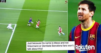 """Fans greifen Lionel Messi an, weil er nach einer Episode während des Spiels gegen Granada """"den La-Liga-Titel verloren hat"""""""