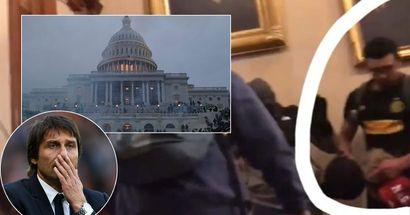 """Un tifoso che indossava la maglia dell'Inter era tra le persone note per le """"proteste"""" al Congresso degli USA"""