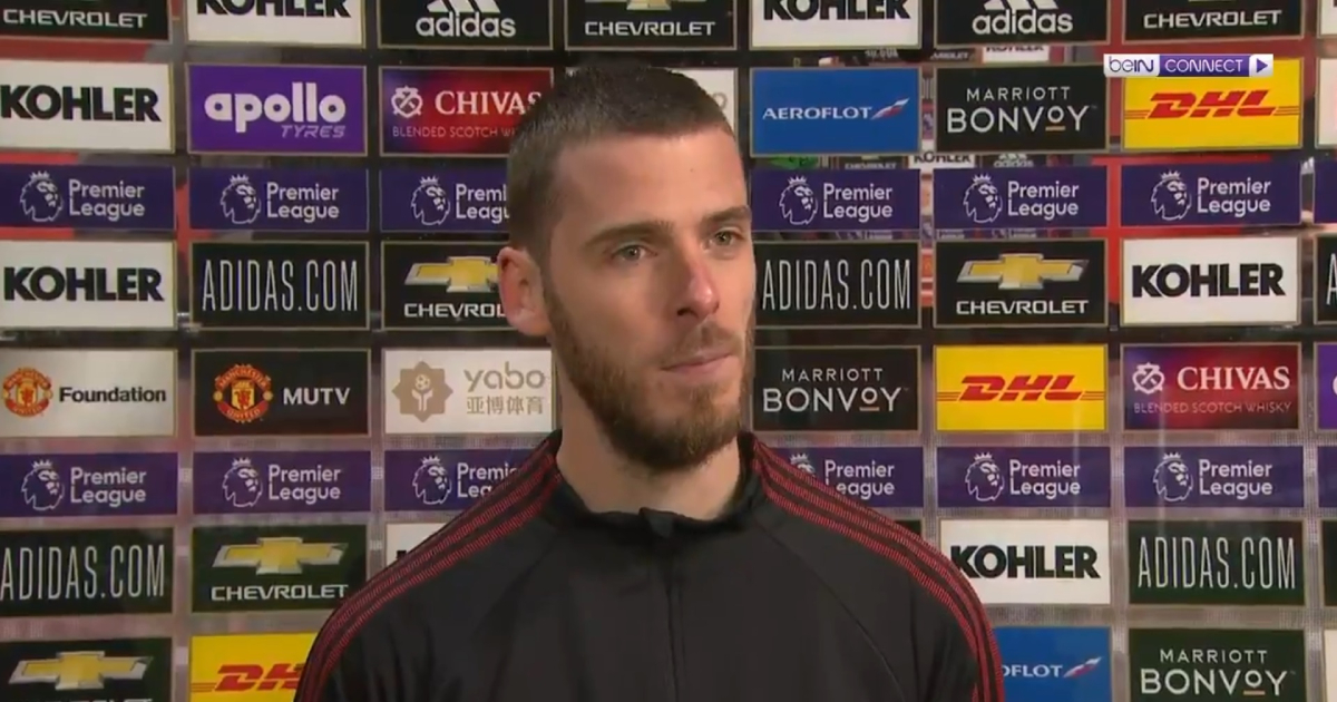 De Gea: 'We have to make sure we win the next game at Old Trafford'