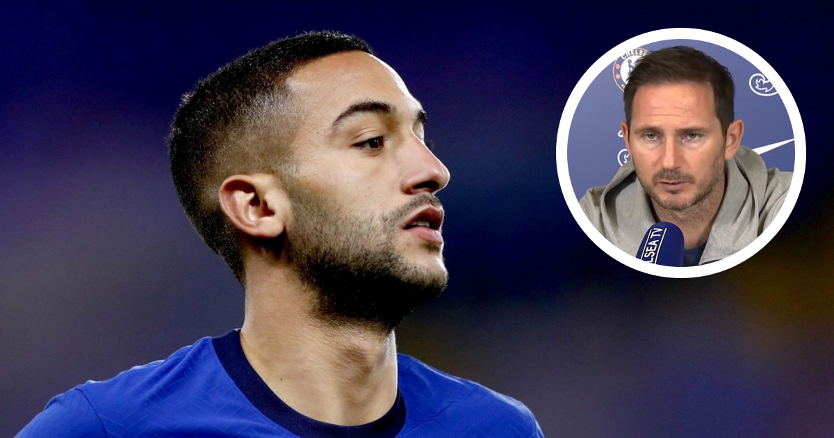 Lampard hints at Hakim Ziyech's first start for Chelsea