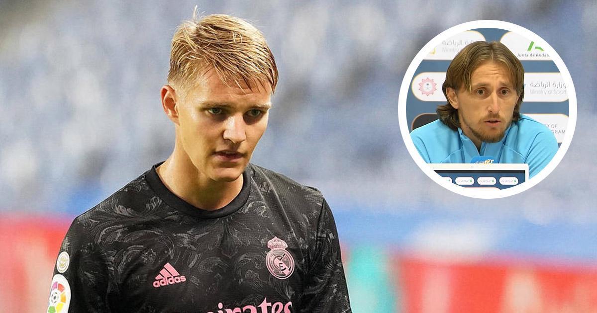 """""""Je l'aime en tant que joueur et en tant que personne"""": Modric envoie un message fort à Odegaard alors que le Norvégien manque de temps de jeu"""