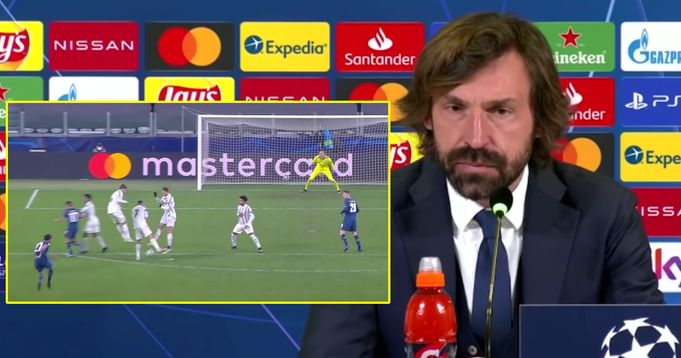 Pirlo reacts to Ronaldo's bad defending free-kick as Porto knocked Juve out  of Champions League
