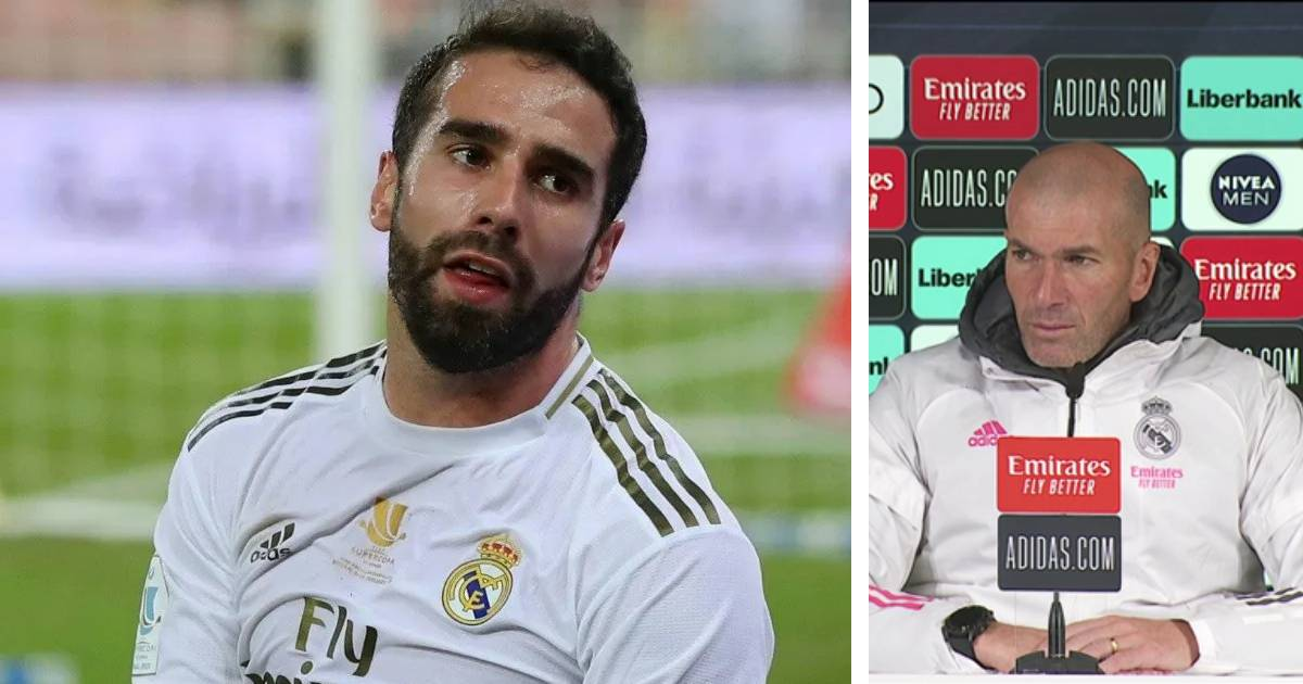 Real Madrid boss Zidane confirms Carvajal's new injury, provides update on Ramos and Benzema