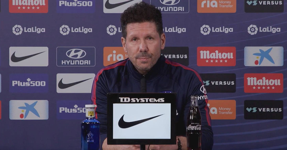 Simeone: 'Real Madrid deservedly won. They were superior and better from the beginning'