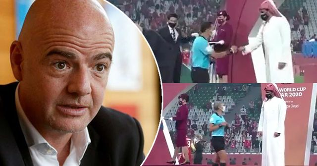 Gianni Infantino comments on the incident with Sheikh and female referee in Qatar