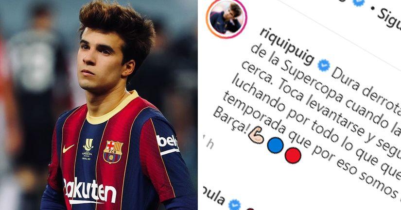 El mensaje en Instagram de Riqui Puig tras perder la Supercopa de España con el Barça - logo