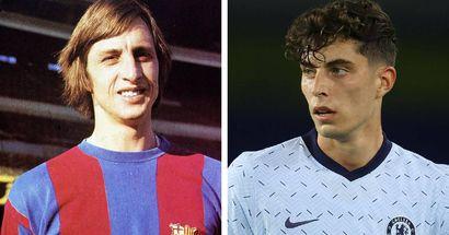 L'ancien cible du Barca, Kai Havertz, comparé à Johan Cruyff après seulement 3 matchs avec Chelsea