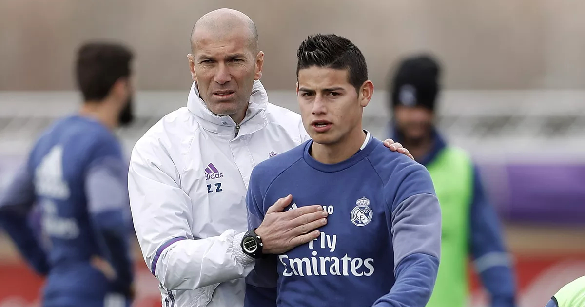Zidane has his own tastes': James Rodriguez on lack of game time ...