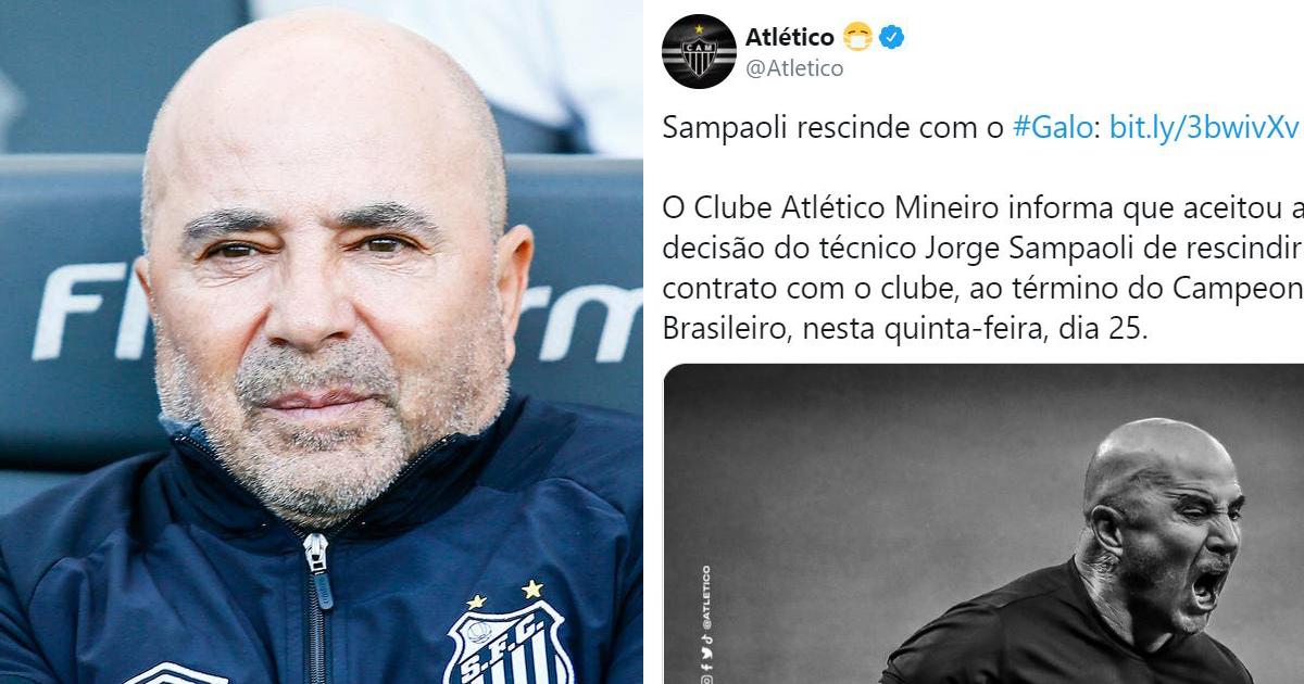 ⚡ L'Atlético Mineiro officialise le départ de Jorge Sampaoli avec un beau message d'adieu