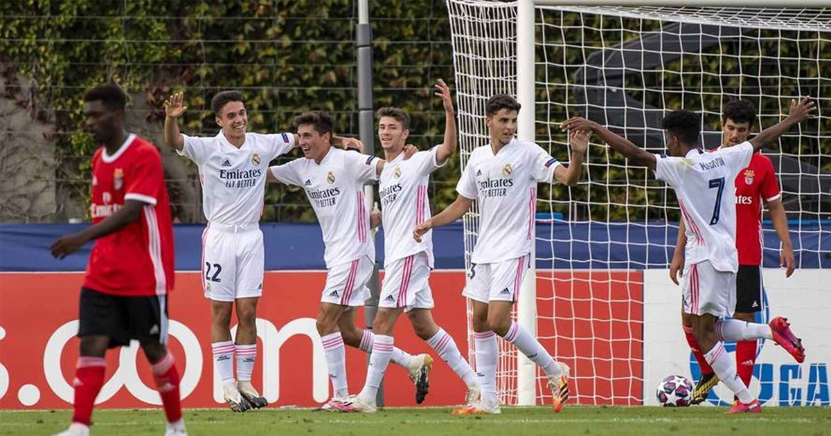 Real Madrid Juvenil A wins UEFA Youth League for the first time after defeating Benfica U19