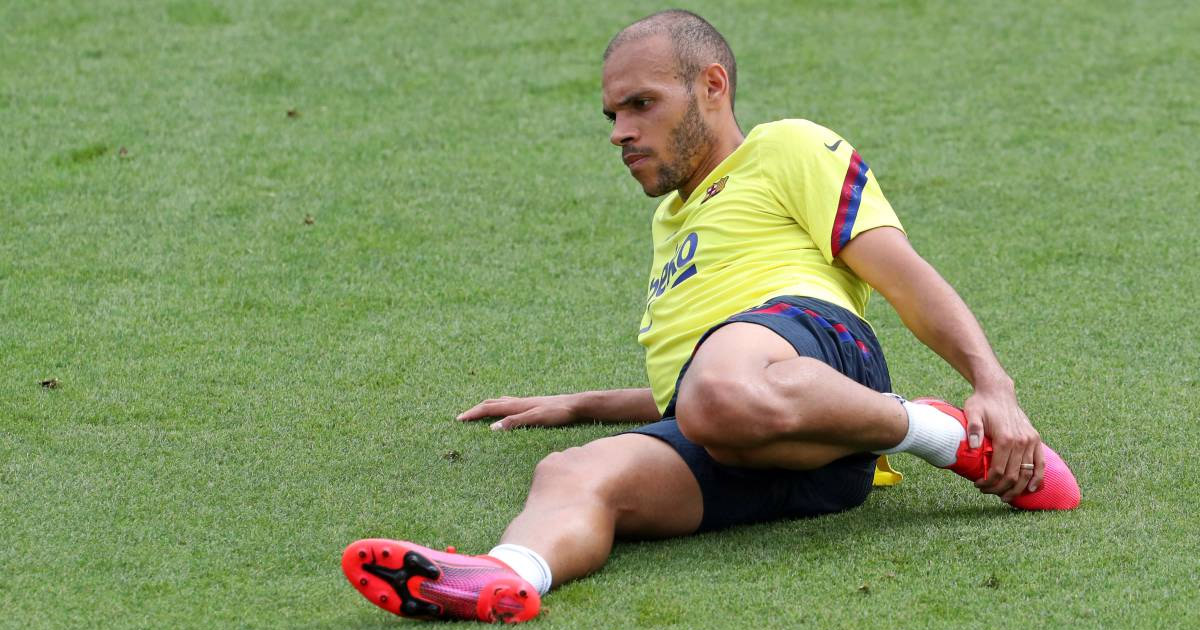 Braithwaite returns to Barcelona training, future still remains undecided.