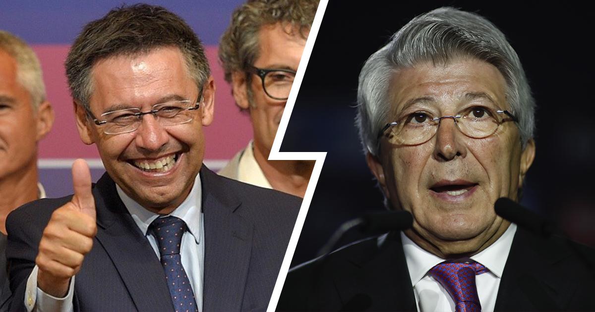 """""""Atletiko"""" prezidenti: """"Bartomeu – """"Barselona""""ning buyuk prezidenti bo'lib qoladi"""""""