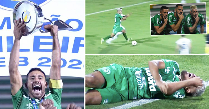 Folie au Brésil: Le joueur de Chapecoense fait tapis, choque ses coéquipiers avec un penalty risqué pour remporter une promotion à la 98e min