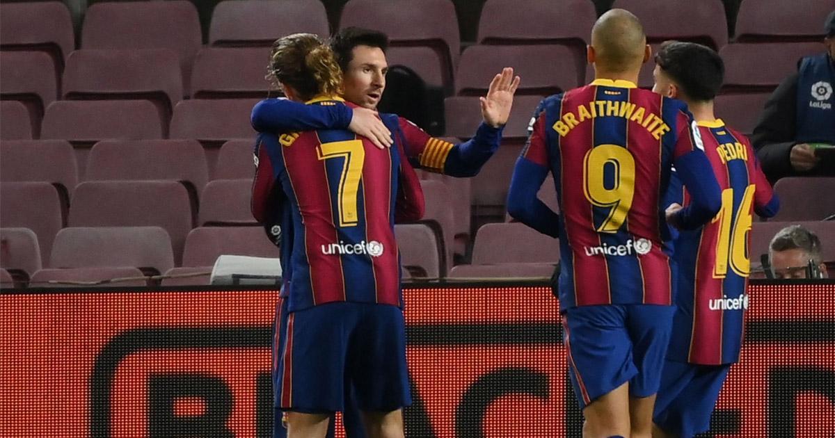 Braithwaite 8, Frenkie de Jong: Barcelona players  rating in narrow Levante win