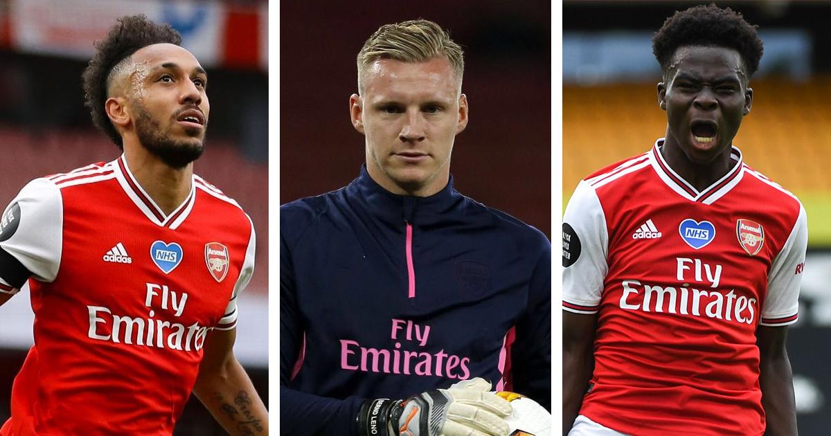 Aubameyang, Leno and Saka nominated for Arsenal Player of the ...