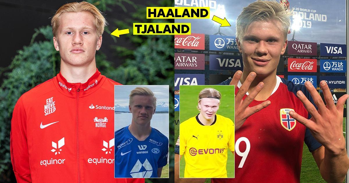 """Le cousin d'Erling Haaland, âgé de 17 ans, a un record de buts fou en Norvège - il est déjà nommé """"Goal Machine"""""""
