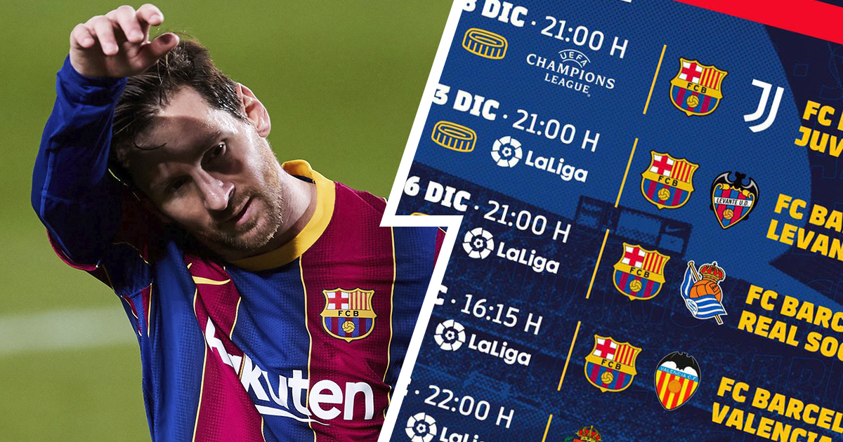 Long-awaited Messi-Cristiano battle, Valencia clash and more: Barca's remaining games of 2020