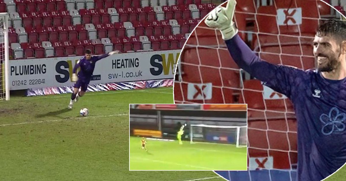 English goalkeeper embarrasses rivals, scores from his own penalty area with a crazy shot