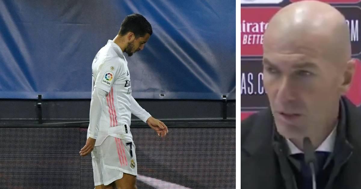 Zinedine Zidane reveals he knows not much on Eden Hazard's injury: 'I hope it's just a knock'